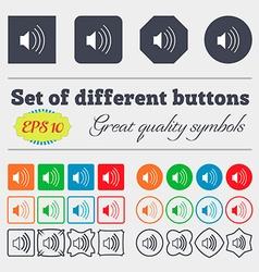 Volume sound icon sign big set of colorful diverse vector