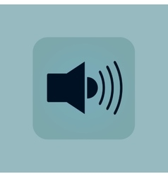 Pale blue loudspeaker icon vector