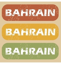Vintage bahrain stamp set vector