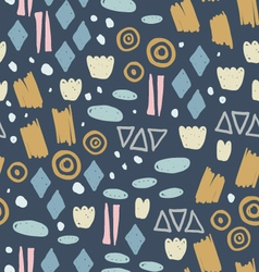 Abstract pattern with fun trendy shapes vector