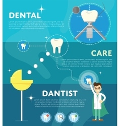 Set of dental infographics vector