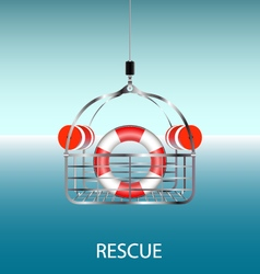 Rescue basket vector