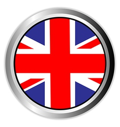 United kingdom england uk flag button vector