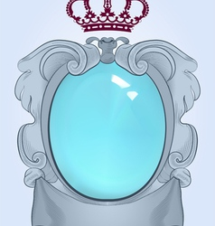 Baroque mirror vector