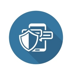 Safety messaging icon flat design vector