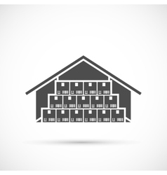 Warehouse icon on white vector