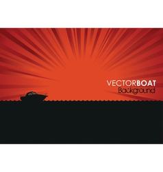 boat banner vector image