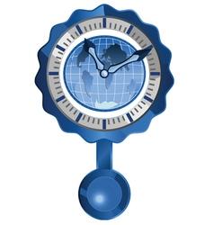 world clock vector image