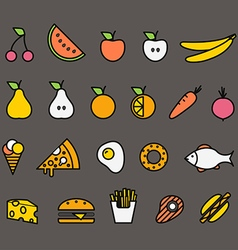 Different food silhouette icons collection design vector