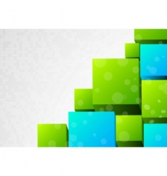 abstract 3d background with block vector image vector image