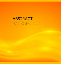 Abstract orange background with smooth lines vector image vector image