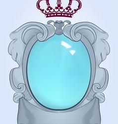 Baroque mirror vector