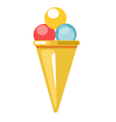 Beach bar ice cream dessert summer flat vector