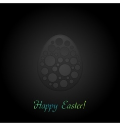 Black concept easter egg background vector