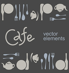 Cafe corporate style vector image vector image