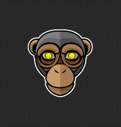 chimpanzee logo design template chimpanzee head vector image