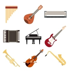 Collection of musical instruments vector image