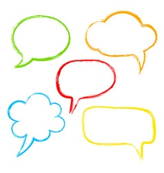 Colorful ink speech bubble vector image vector image