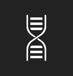 Dna icon medecine molecule flat vector
