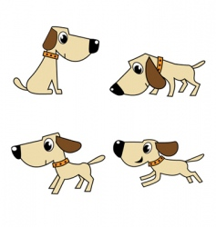 dog set vector image vector image