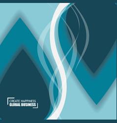 Elegant smooth blue business background vector