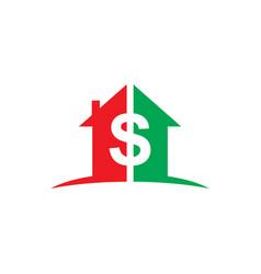 Home money dollar business logo vector