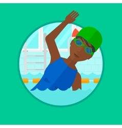 Man swimming in pool vector