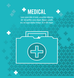 medical case first aid health care vector image vector image