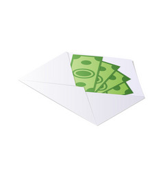 money in envelope dollar bills isometric vector image
