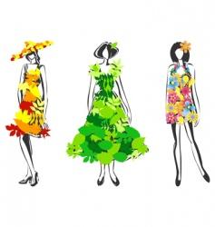 natural fashion vector image vector image
