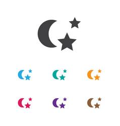 of folks symbol on night icon vector image