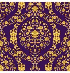 Ornate seamlesspattern in eastern style on deep vector