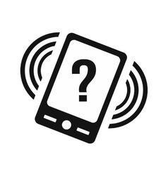 Phone with question vector image