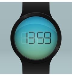 Realistic black Smart Watch vector image