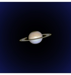 Realistic planet saturn vector