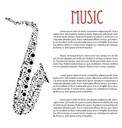Saxophone made up of musical notes vector