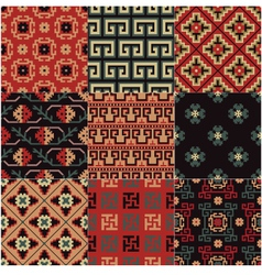 seamless Chinese Turkestan pattern vector image vector image