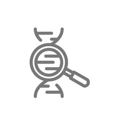 simple search dna line icon symbol and sign vector image