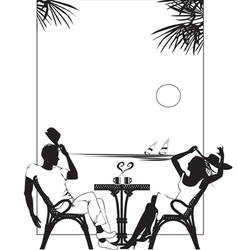 Summer2 couples coffee vector