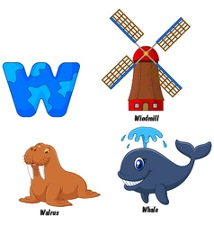W alphabet vector