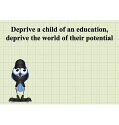 Deprive a child vector