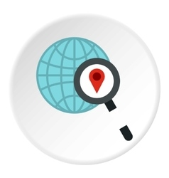 Search gps icon flat style vector