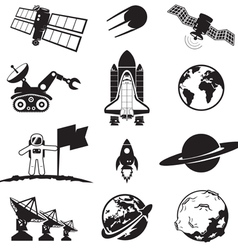 Space programme set vector