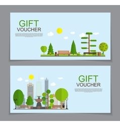 Gift voucher template for summer natural vector