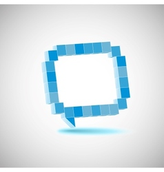 character the speech bubbles drawing in vector image