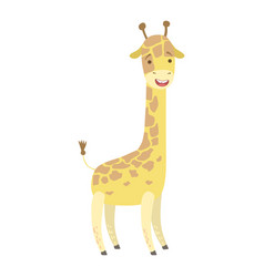 Giraffe cute toy animal with detailed elements vector