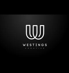 W logo w letter icon design vector