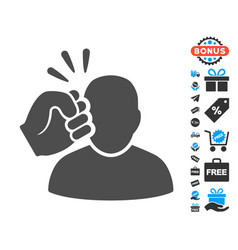 Crime violation fist strike flat icon with free vector