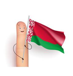 Belarus waving flag vector