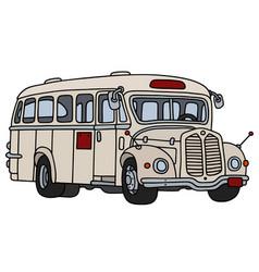 Vintage cream bus vector